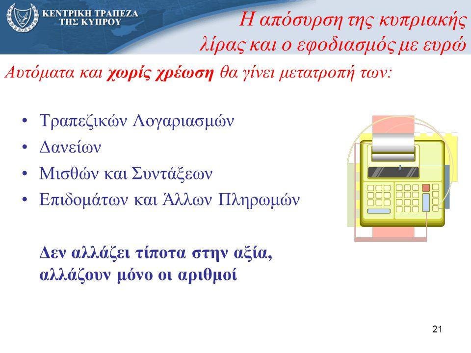 Η απόσυρση της κυπριακής λίρας και ο εφοδιασμός με ευρώ