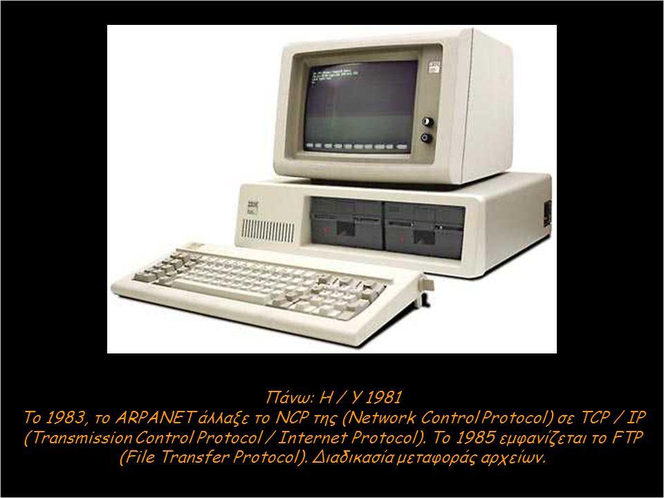 Πάνω: Η / Υ 1981