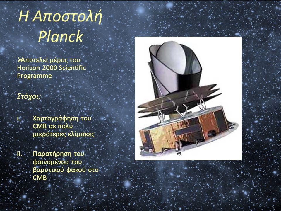 Η Αποστολή Planck Στόχοι: