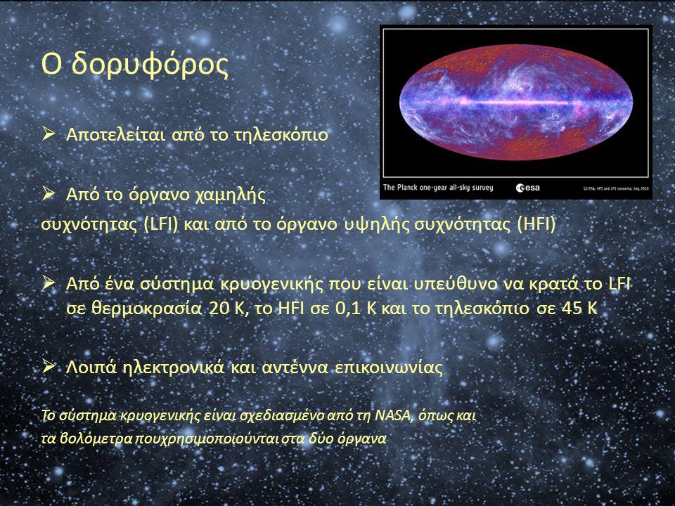 Ο δορυφόρος Αποτελείται από το τηλεσκόπιο Από το όργανο χαμηλής