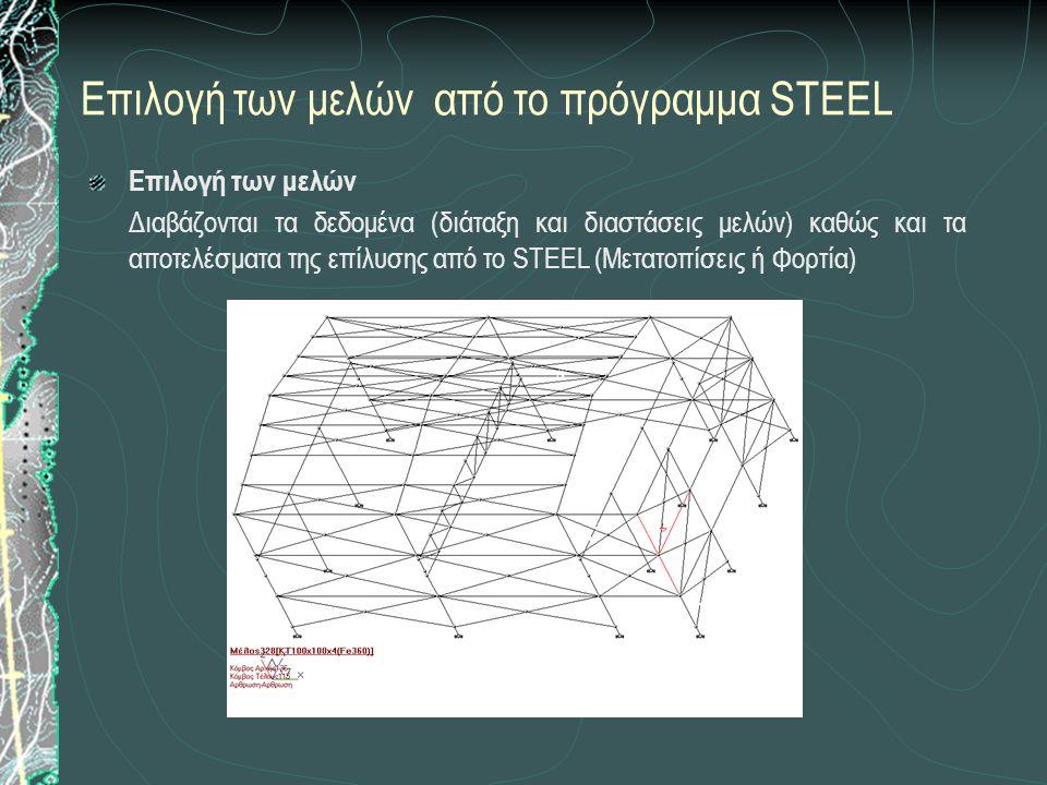Επιλογή των μελών από το πρόγραμμα STEEL