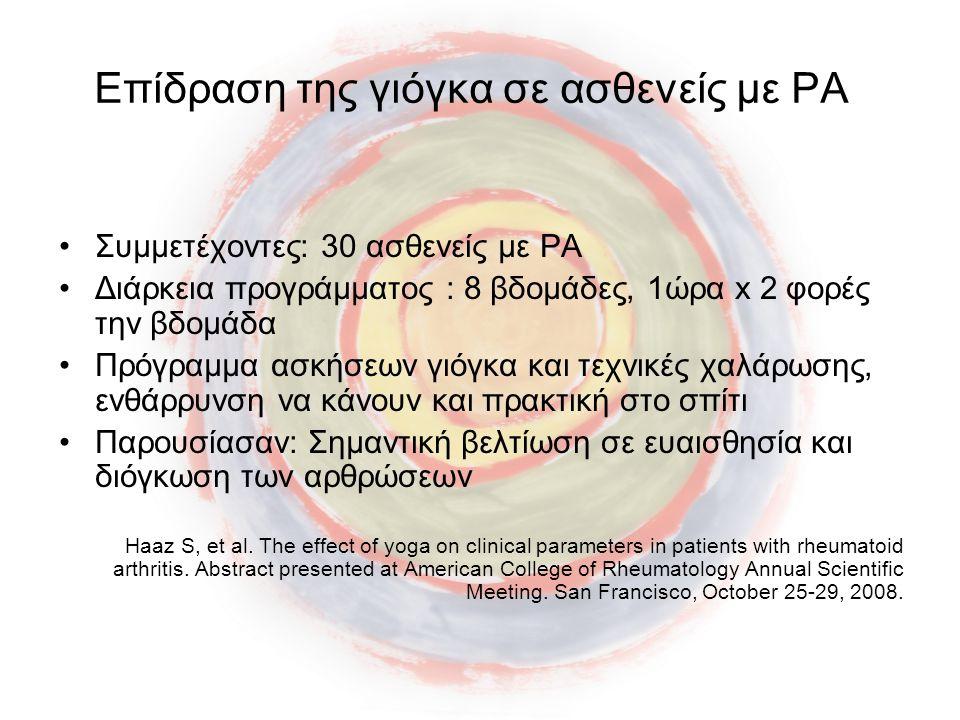 Επίδραση της γιόγκα σε ασθενείς με ΡΑ