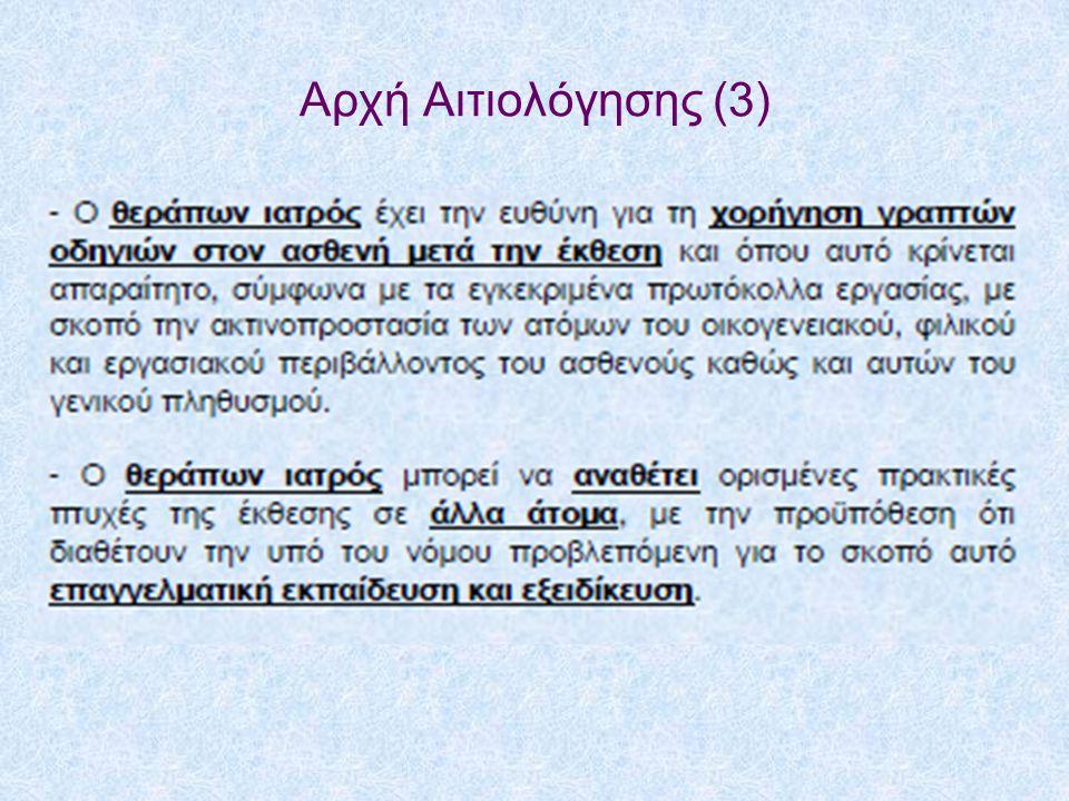 Αρχή Αιτιολόγησης (3)