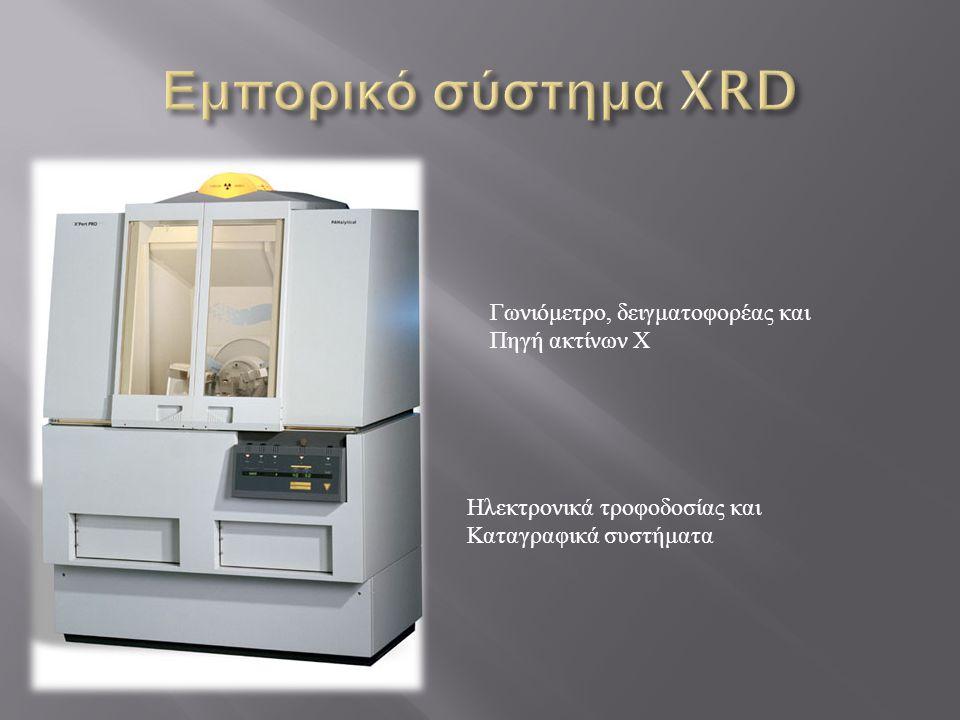 Εμπορικό σύστημα XRD Γωνιόμετρο, δειγματοφορέας και Πηγή ακτίνων Χ