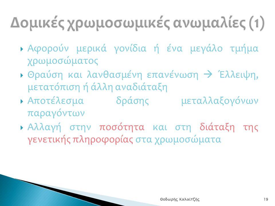 Δομικές χρωμοσωμικές ανωμαλίες (1)