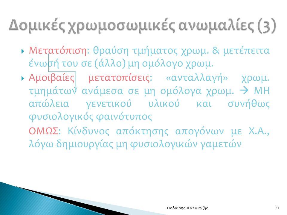 Δομικές χρωμοσωμικές ανωμαλίες (3)
