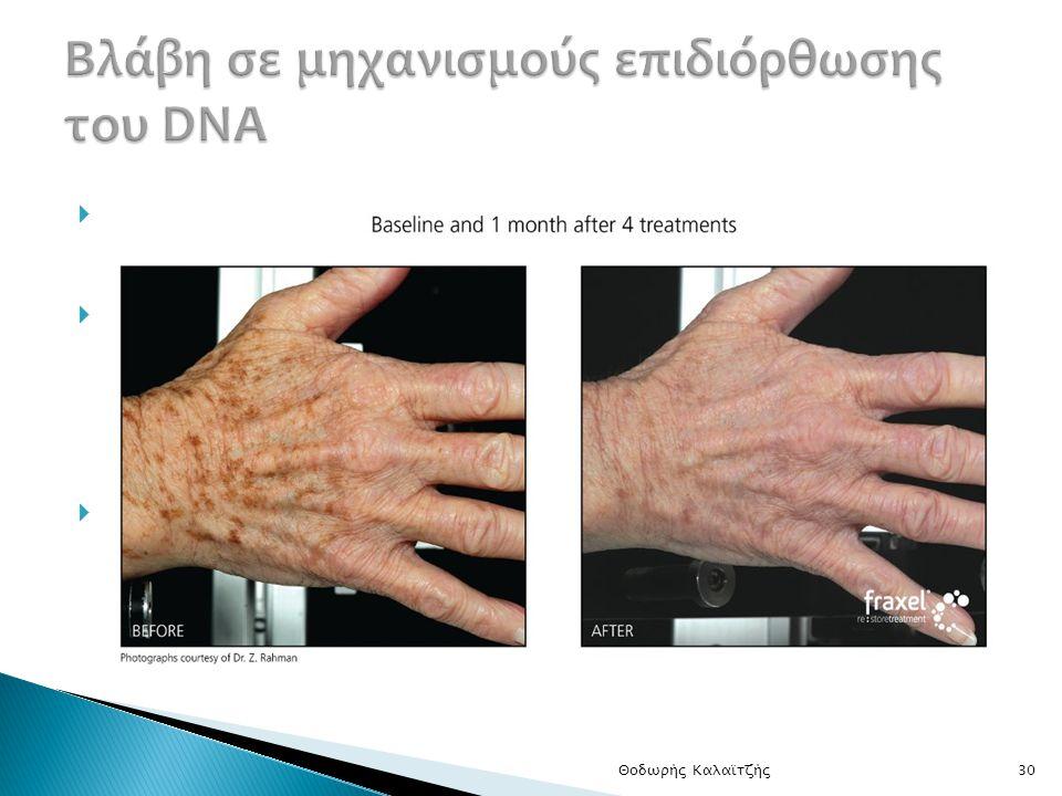 Βλάβη σε μηχανισμούς επιδιόρθωσης του DNA