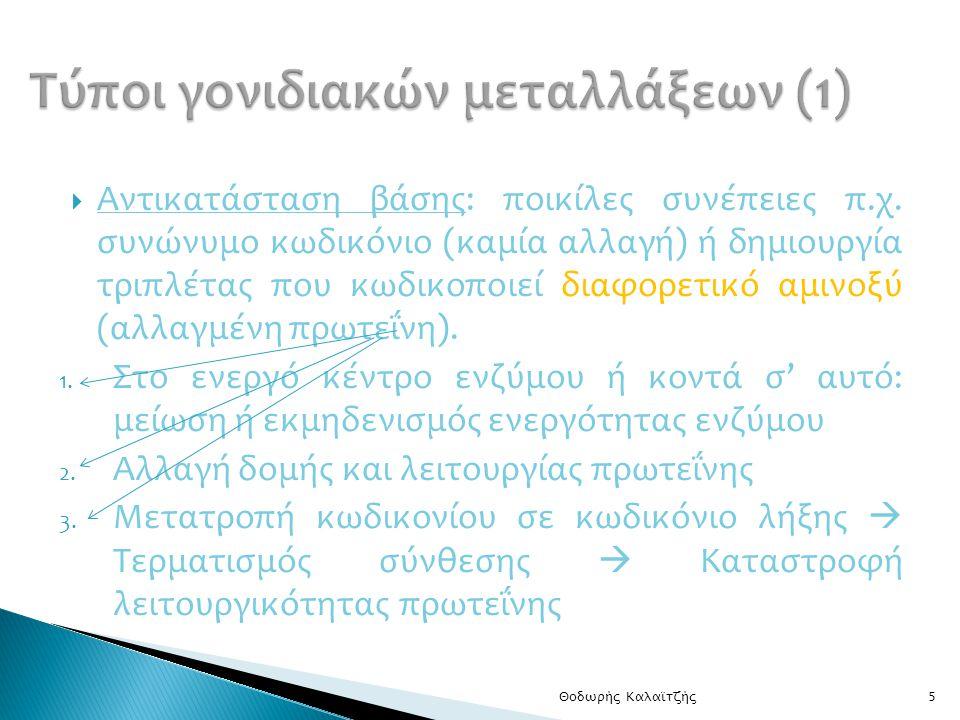 Τύποι γονιδιακών μεταλλάξεων (1)