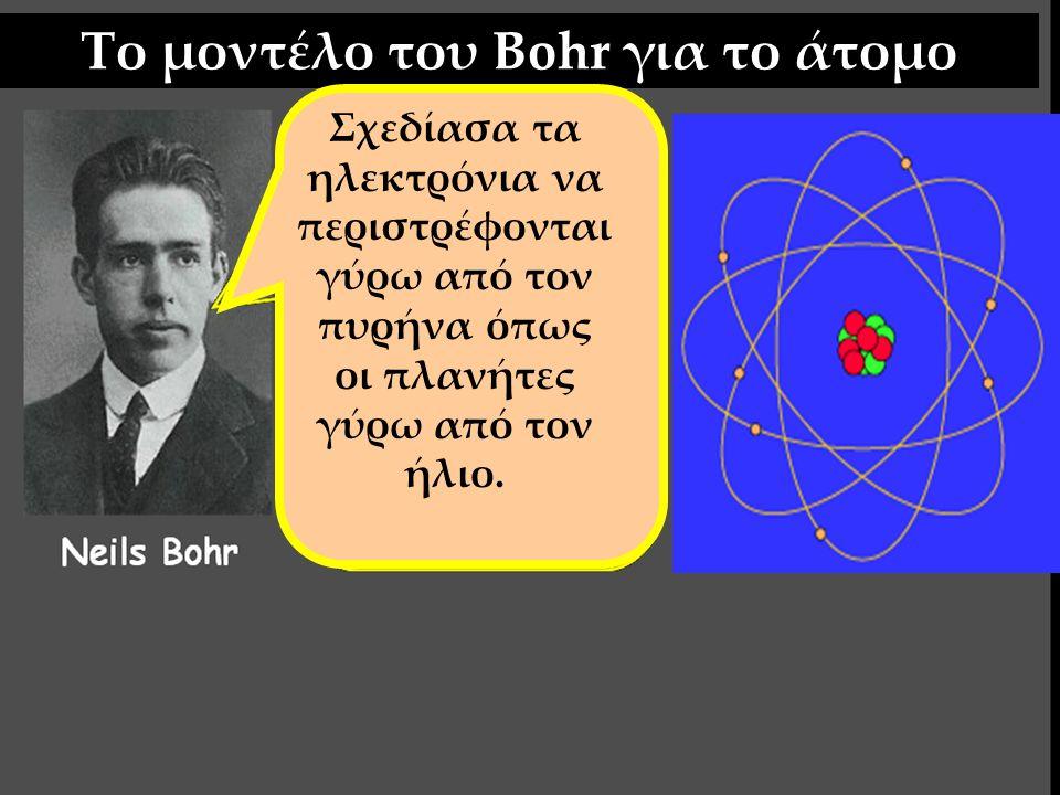 Το μοντέλο του Bohr για το άτομο