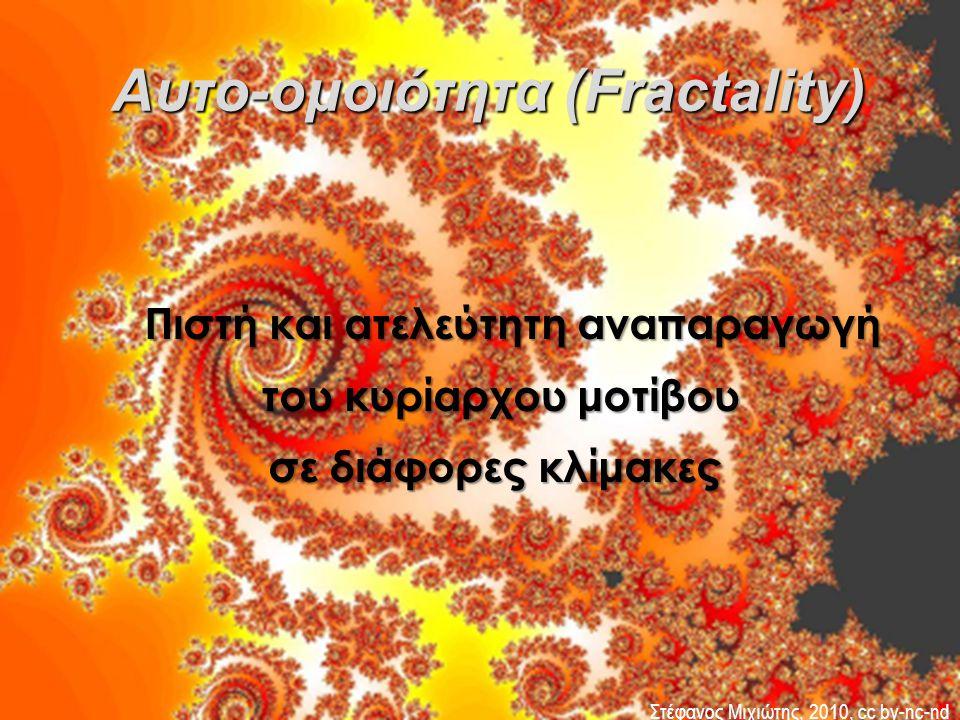 Αυτο-ομοιότητα (Fractality)