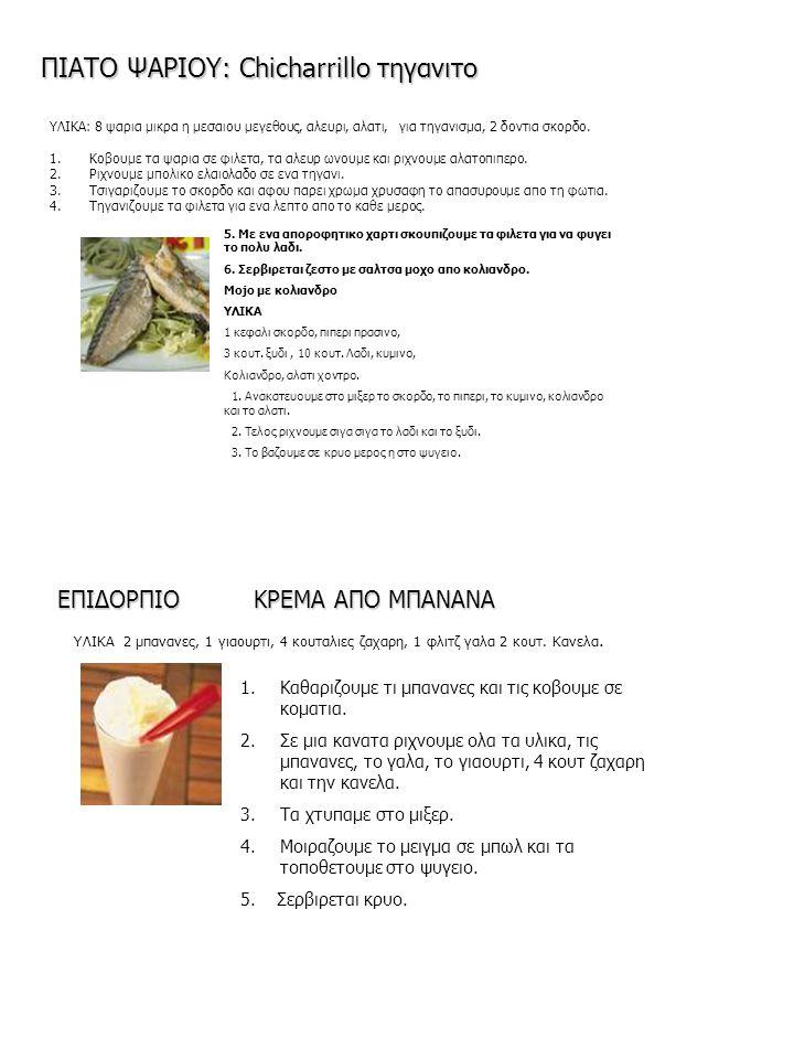ΠΙΑΤΟ ΨΑΡΙΟΥ: Chicharrillo τηγανιτο