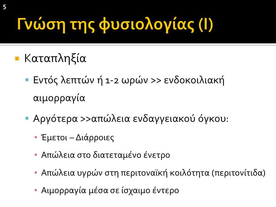 Γνώση της φυσιολογίας (Ι)
