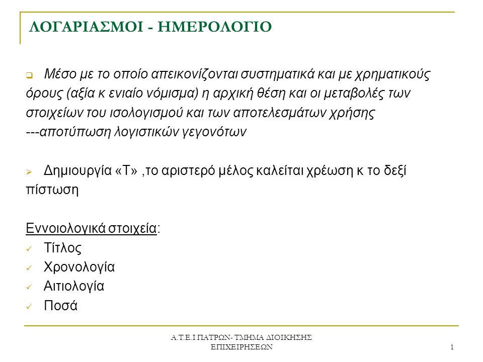 ΛΟΓΑΡΙΑΣΜΟΙ - ΗΜΕΡΟΛΟΓΙΟ