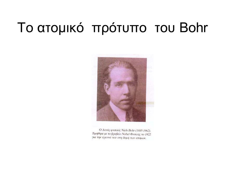 Το ατομικό πρότυπο του Bohr