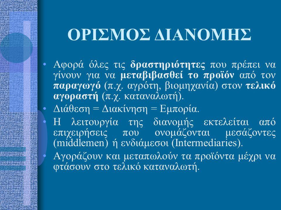 ΟΡΙΣΜΟΣ ΔΙΑΝΟΜΗΣ