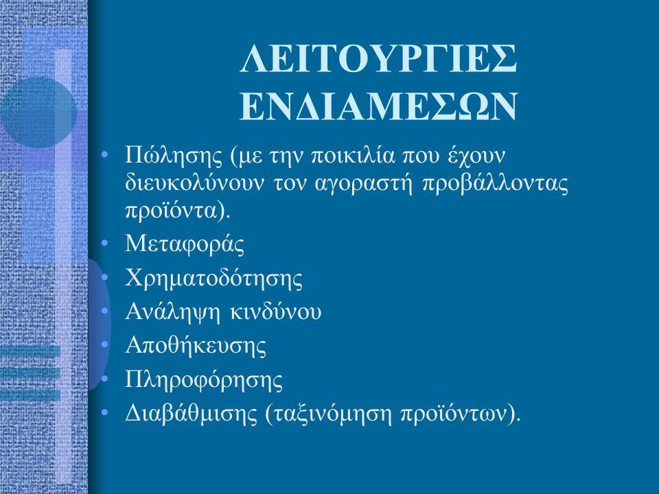 ΛΕΙΤΟΥΡΓΙΕΣ ΕΝΔΙΑΜΕΣΩΝ