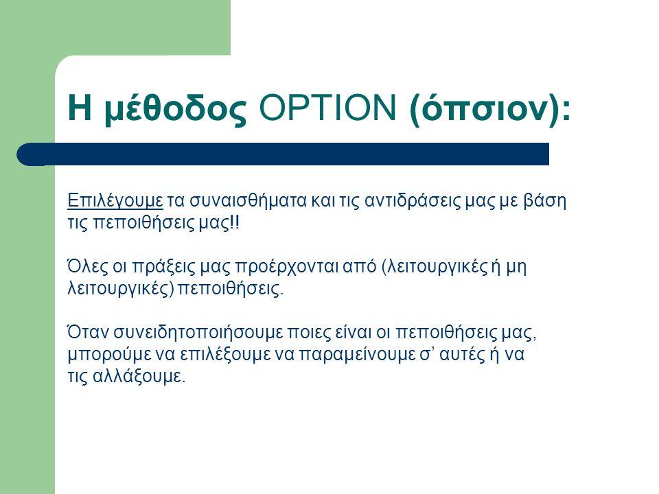 Η μέθοδος OPTION (όπσιον):