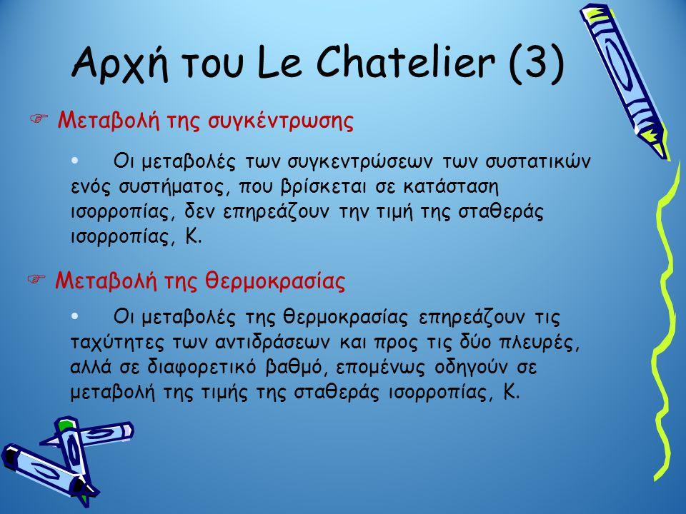Αρχή του Le Chatelier (3)