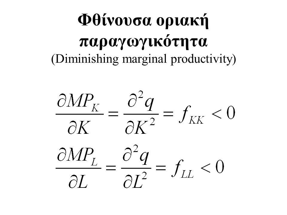 Φθίνουσα οριακή παραγωγικότητα (Diminishing marginal productivity)
