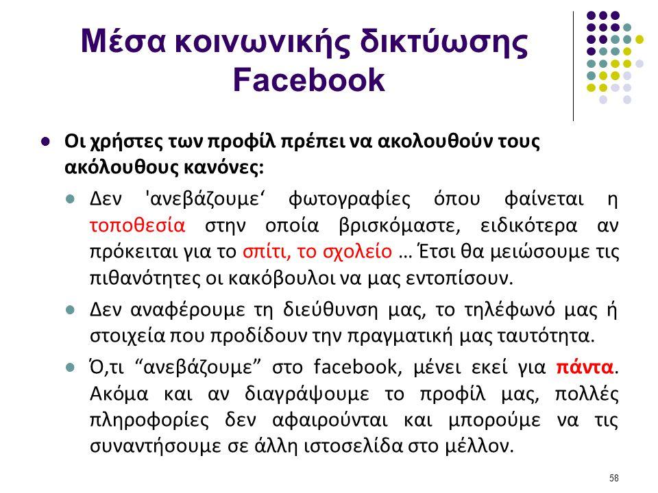 Μέσα κοινωνικής δικτύωσης Facebook