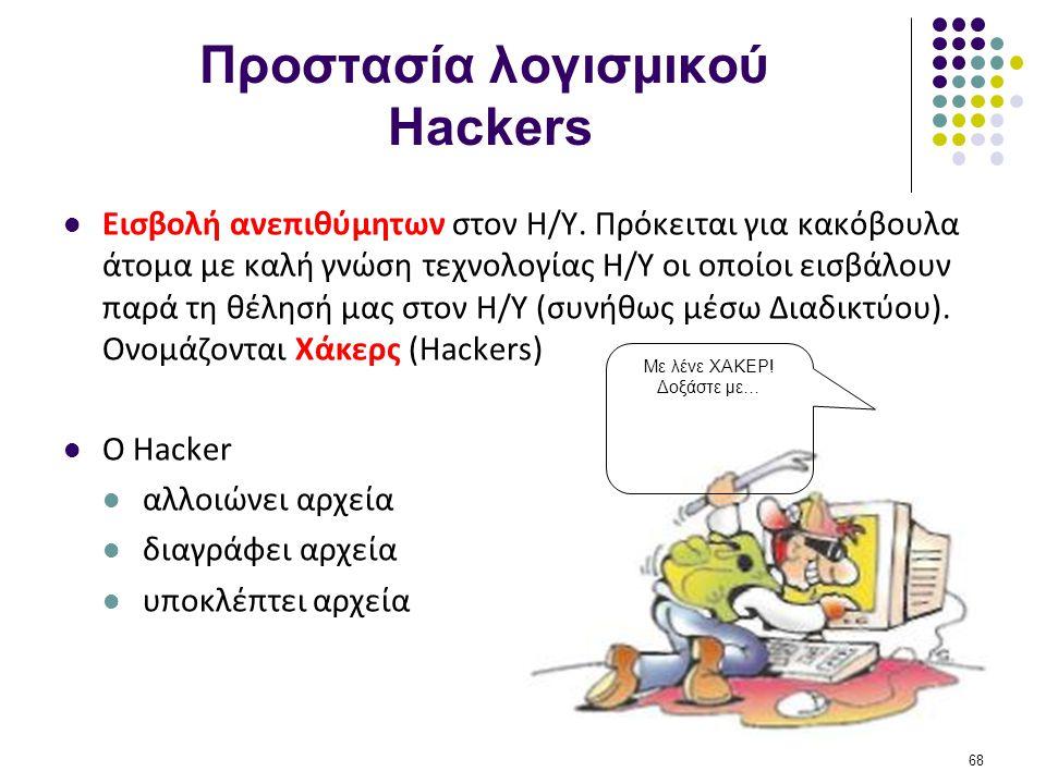 Προστασία λογισμικού Hackers