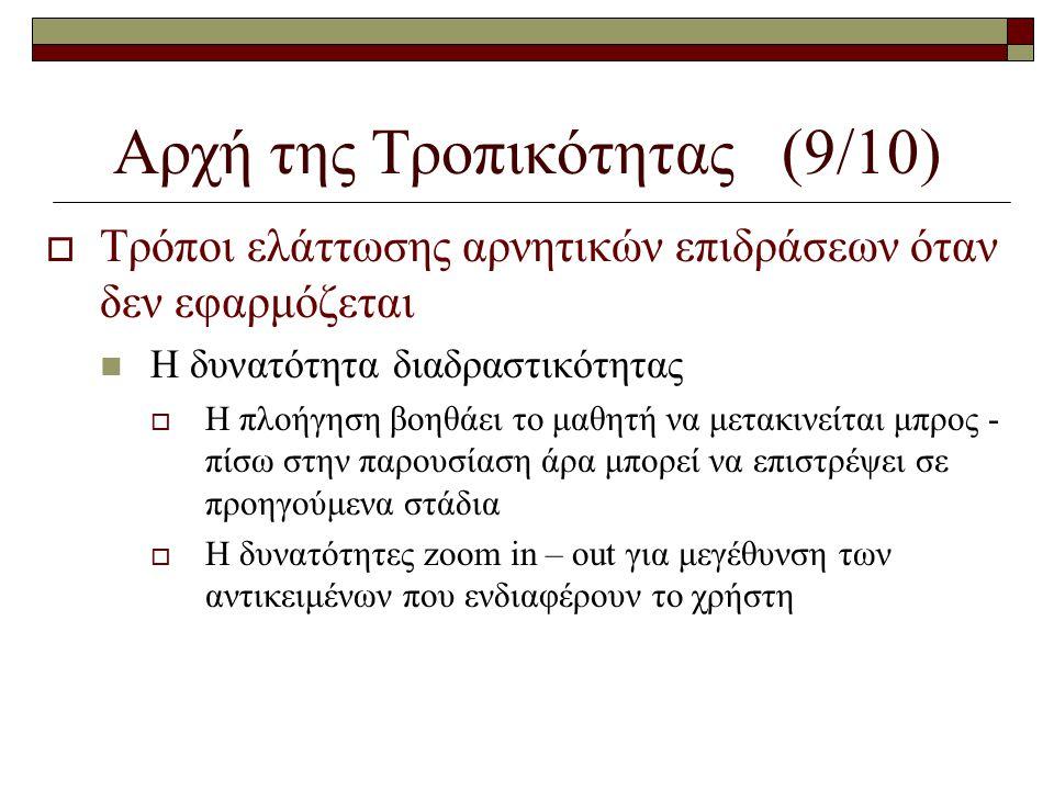 Αρχή της Τροπικότητας (9/10)