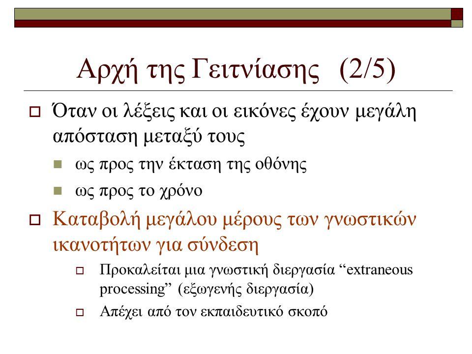 Αρχή της Γειτνίασης (2/5)