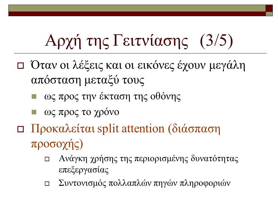 Αρχή της Γειτνίασης (3/5)
