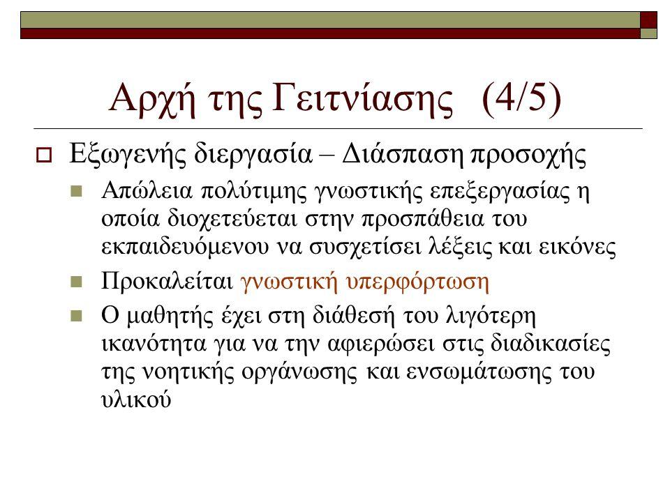 Αρχή της Γειτνίασης (4/5)