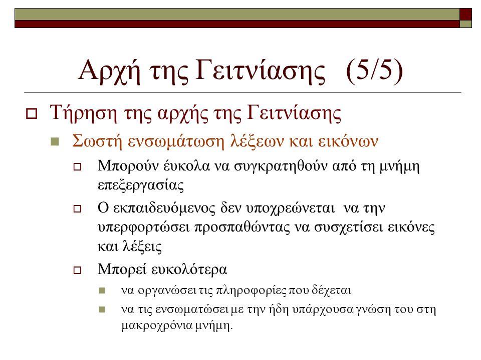 Αρχή της Γειτνίασης (5/5)