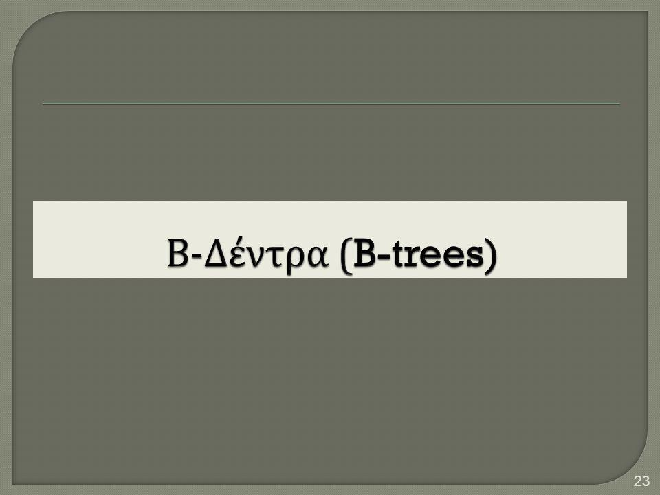 Β-Δέντρα (B-trees)