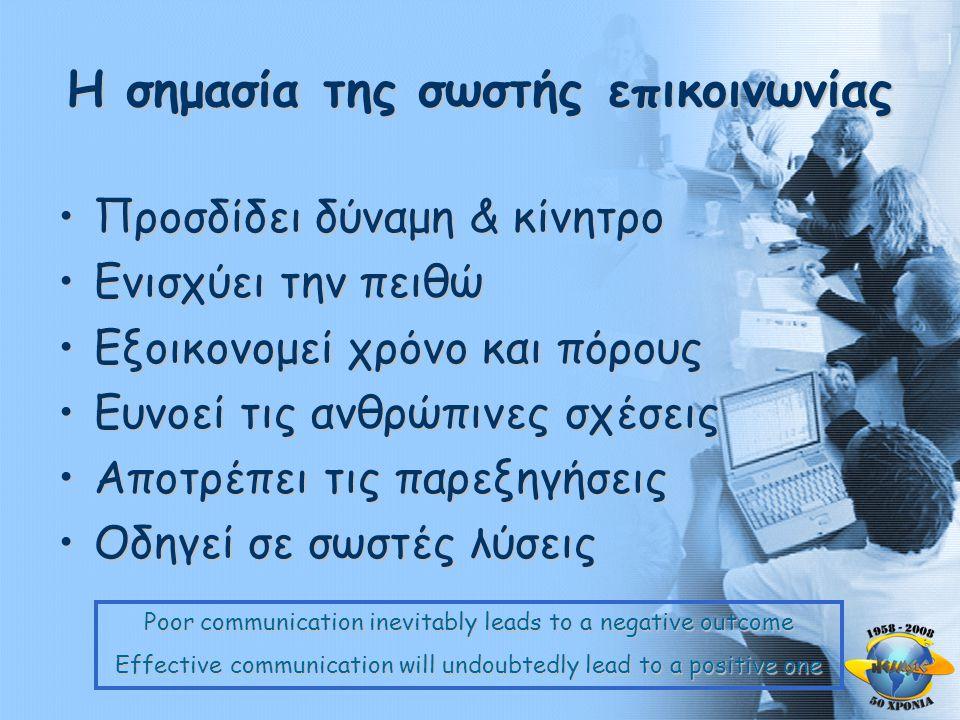 Η σημασία της σωστής επικοινωνίας