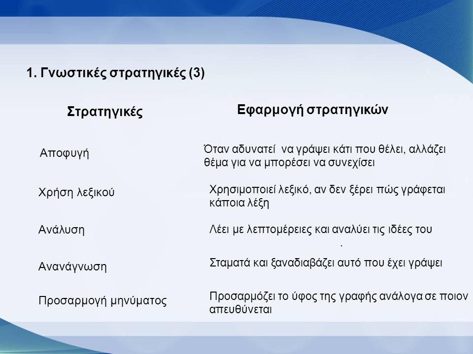 1. Γνωστικές στρατηγικές (3)