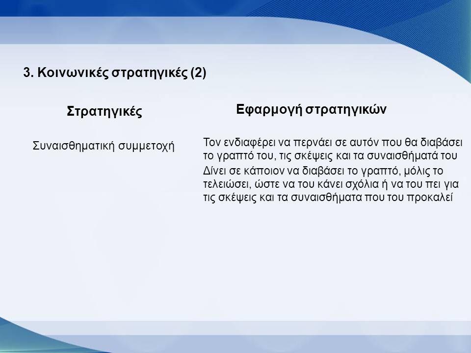 3. Κοινωνικές στρατηγικές (2)