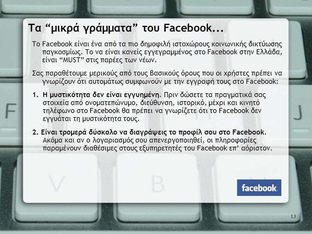 Τα μικρά γράμματα του Facebook...