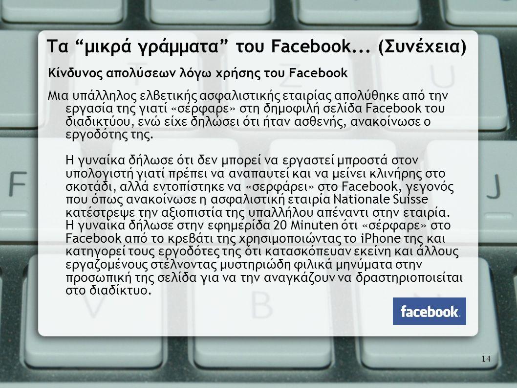 Τα μικρά γράμματα του Facebook... (Συνέχεια)
