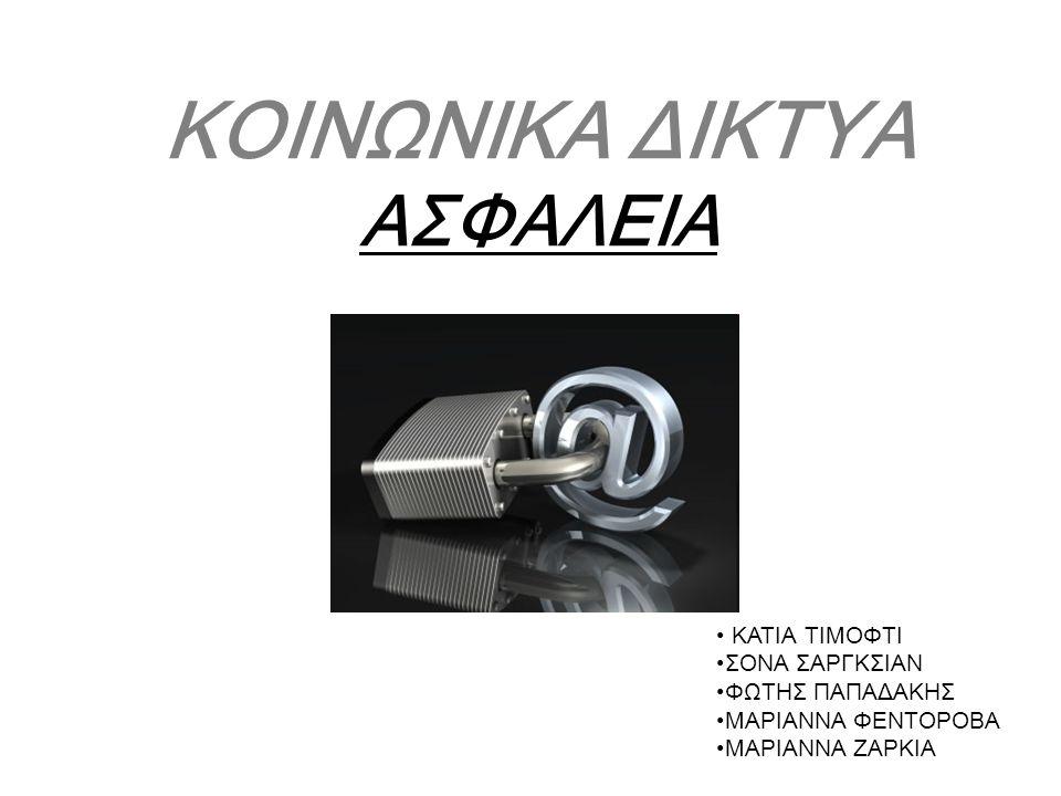 ΚΟΙΝΩΝΙΚΑ ΔΙΚΤΥΑ ΑΣΦΑΛΕΙΑ