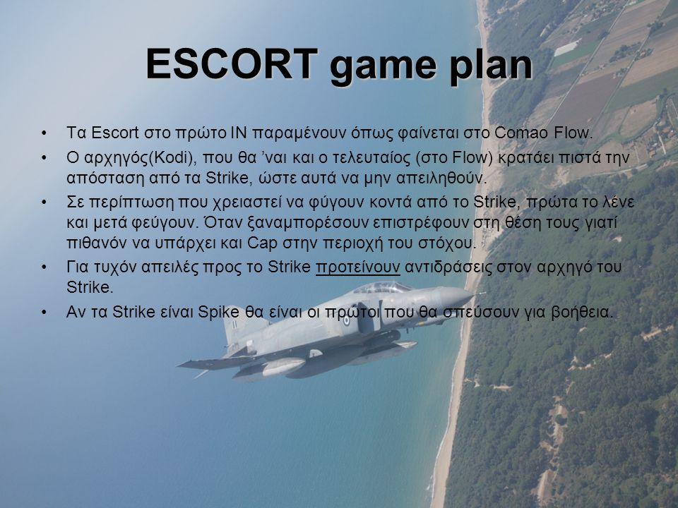ESCORT game plan Τα Escort στο πρώτο ΙΝ παραμένουν όπως φαίνεται στο Comao Flow.
