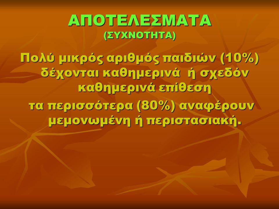 ΑΠΟΤΕΛΕΣΜΑΤΑ (ΣΥΧΝΟΤΗΤΑ)