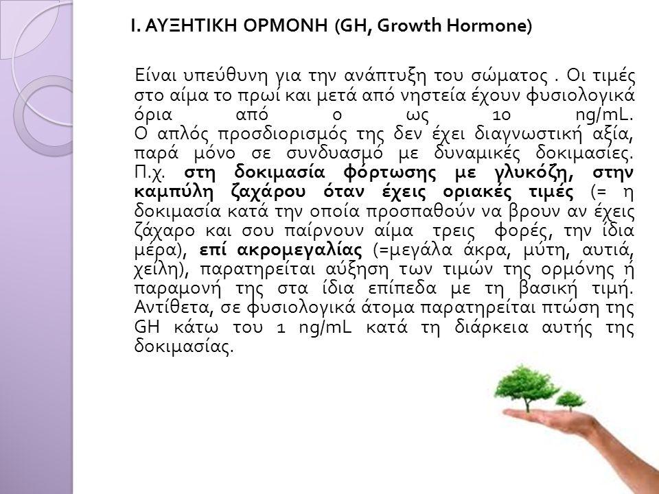 Ι. ΑΥΞΗΤΙΚΗ ΟΡΜΟΝΗ (GH, Growth Hormone)