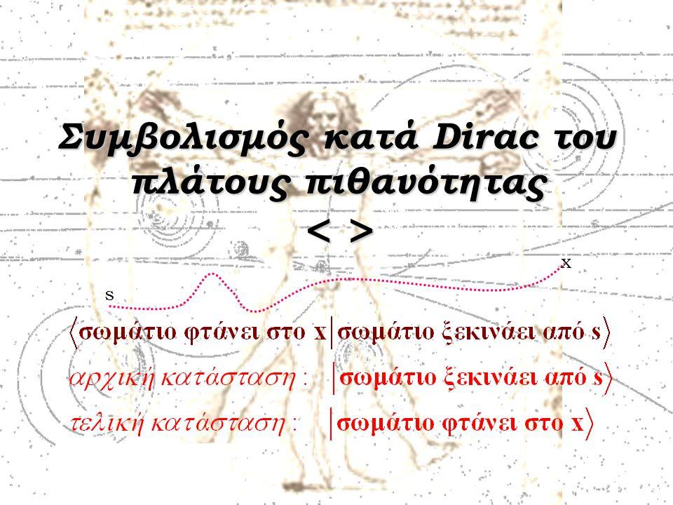 Συμβολισμός κατά Dirac του πλάτους πιθανότητας