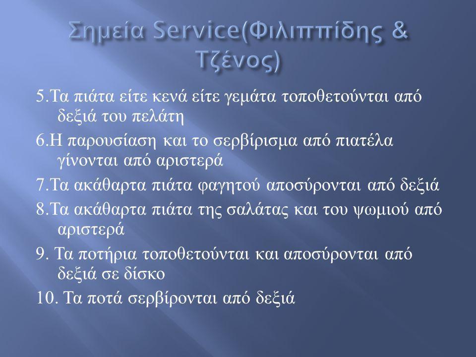Σημεία Service(Φιλιππίδης & Τζένος)
