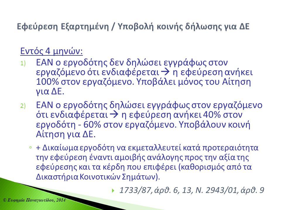 Εφεύρεση Εξαρτημένη / Υποβολή κοινής δήλωσης για ΔΕ