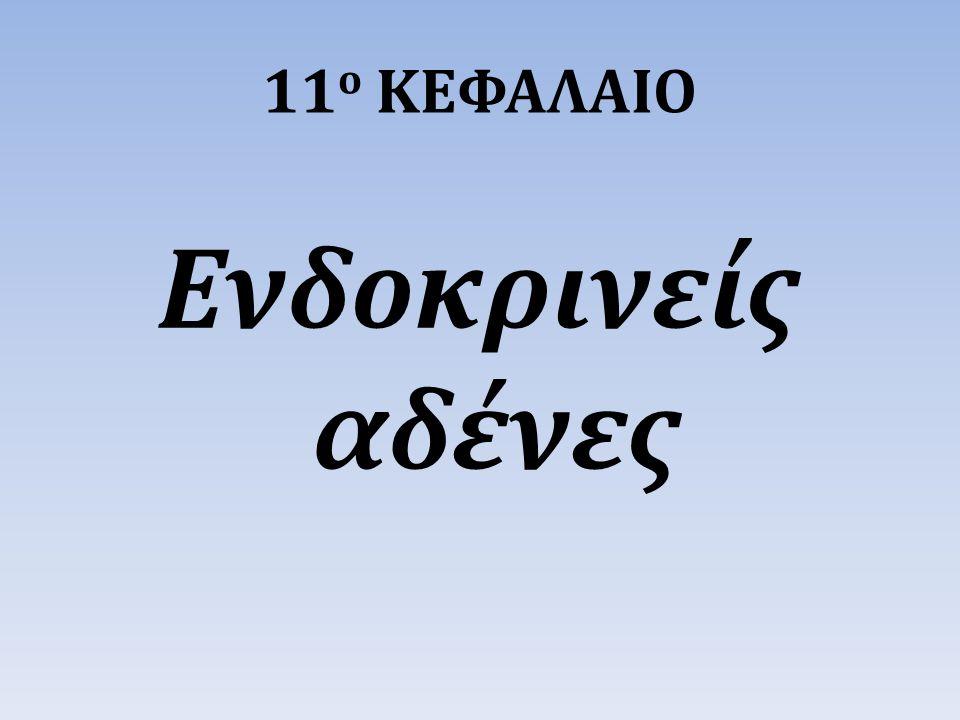 11ο ΚΕΦΑΛΑΙΟ Ενδοκρινείς αδένες