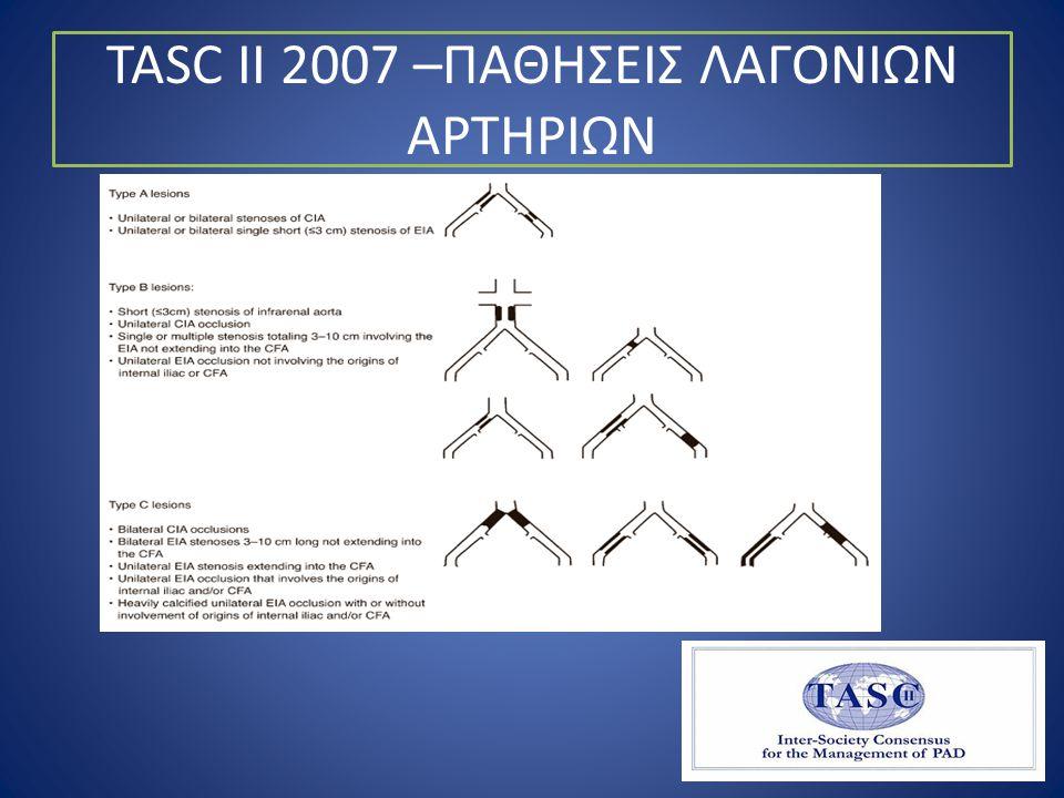 TASC II 2007 –ΠΑΘΗΣΕΙΣ ΛΑΓΟΝΙΩΝ ΑΡΤΗΡΙΩΝ