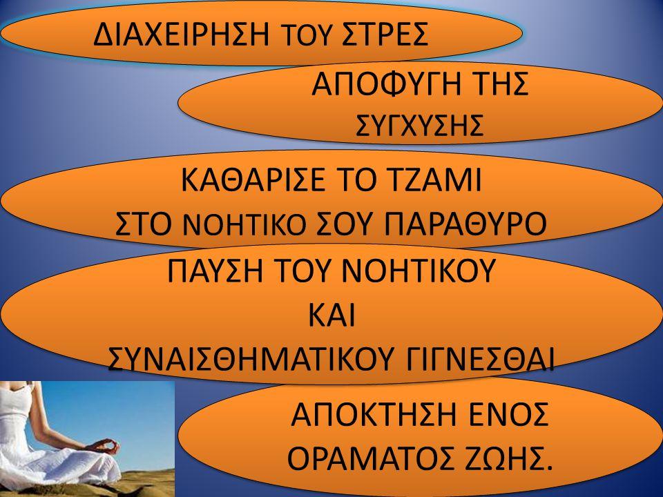 ΣΤΟ ΝΟΗΤΙΚΟ ΣΟΥ ΠΑΡΑΘΥΡΟ