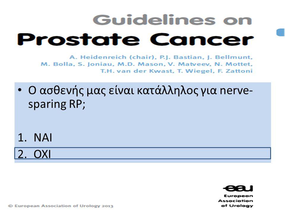 Ο ασθενής μας είναι κατάλληλος για nerve-sparing RP;