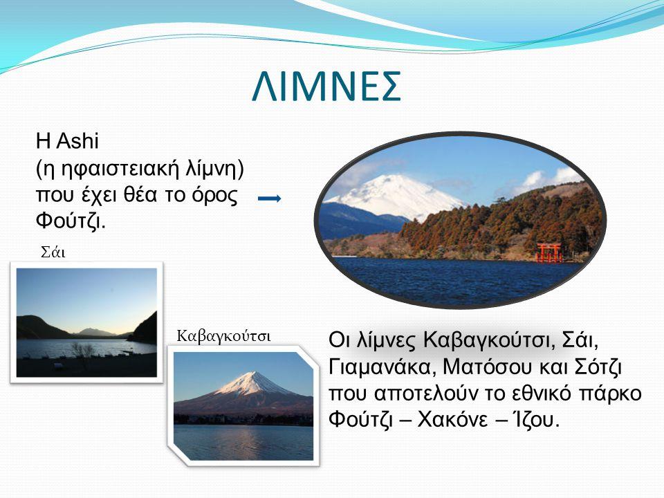 ΛΙΜΝΕΣ Η Ashi (η ηφαιστειακή λίμνη) που έχει θέα το όρος Φούτζι.
