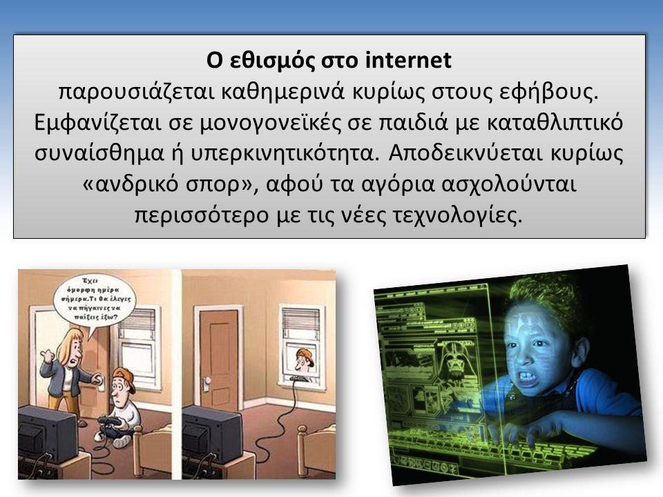 Ο εθισμός στο internet παρουσιάζεται καθημερινά κυρίως στους εφήβους