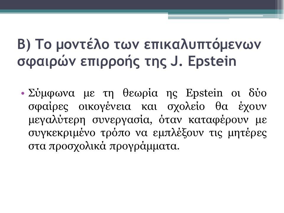 Β) Το μοντέλο των επικαλυπτόμενων σφαιρών επιρροής της J. Epstein